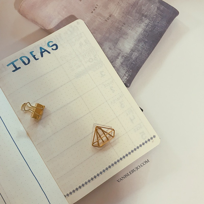 may plan with me, brain dump, bullet journal ideas, idea page, spread