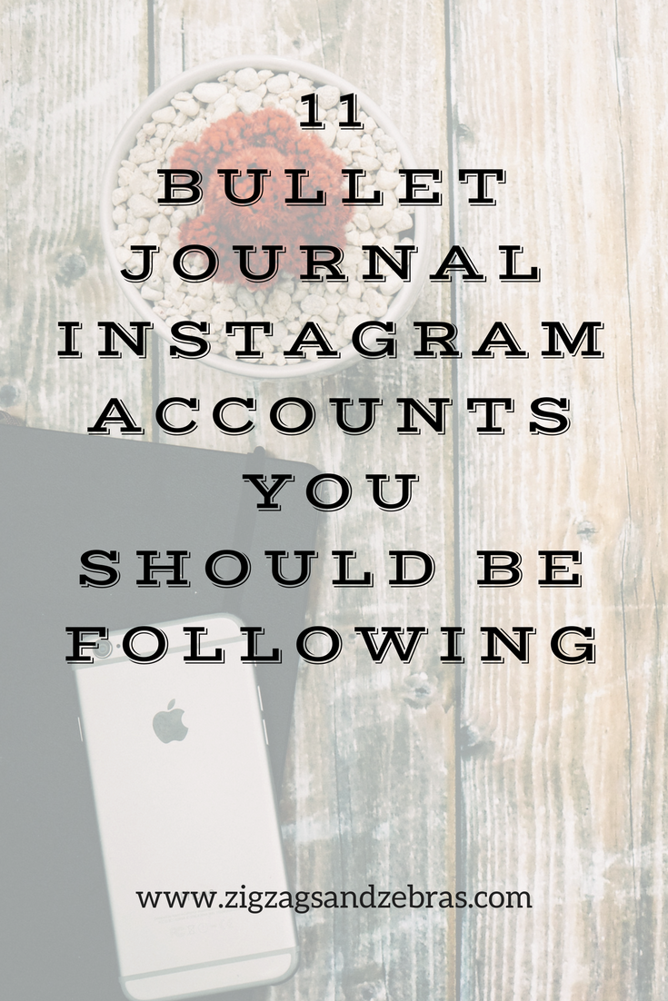 Bullet Journal Instagram Accounts you Should Be Following - Instagram - Blog