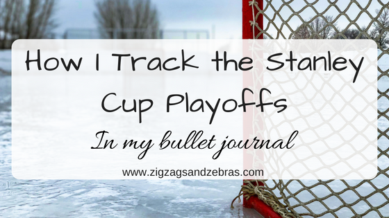 Stanley Cup, NHL, Stanley cup bullet journal, bullet journal hockey, sports, bracket, playoff tracking