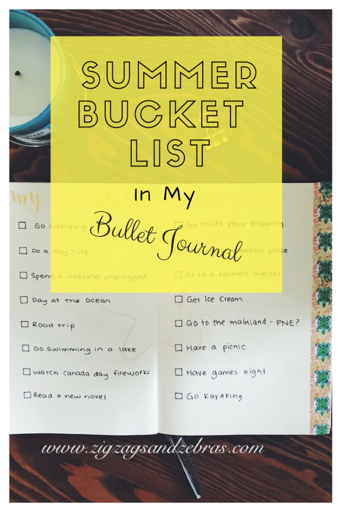 Bullet Journal Summer Bucket List Free Printable To Create Yours
