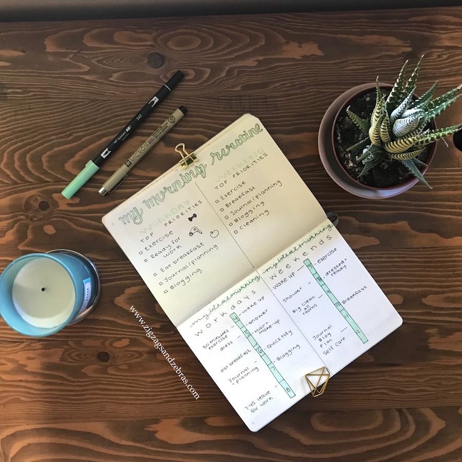 morning routine, bullet journal, bujo, routine, planning, organization