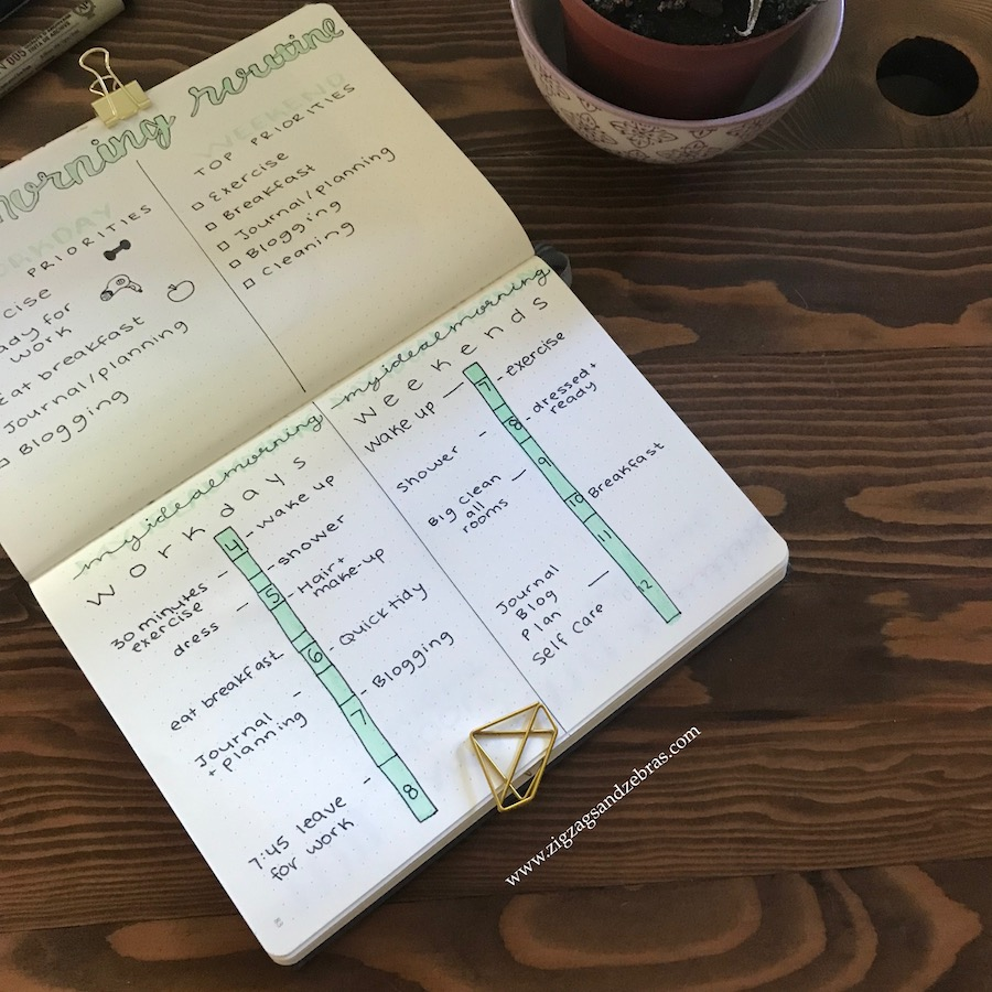 morning routine, bullet journal, routine, planning, organization, productivity