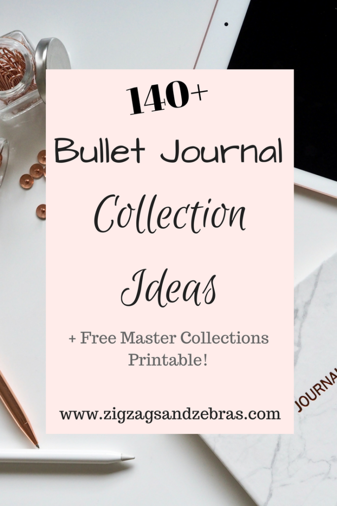 bullet journal collection ideas - bullet journal - bujo collections - printable - bullet journal printable