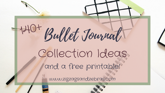 bullet journal collection ideas