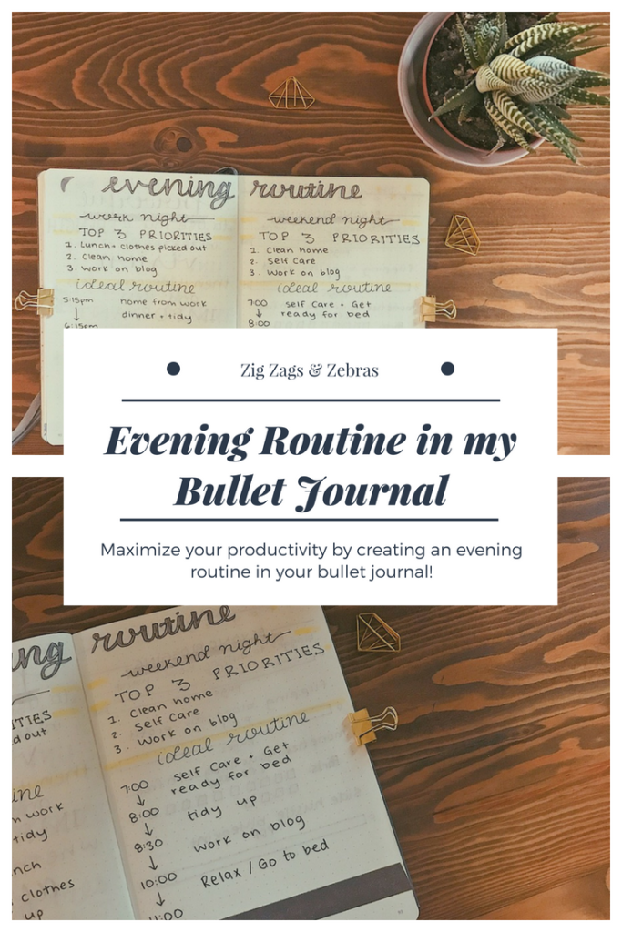 Evening Routine in my Bullet Journal - Routine - Bullet Journal - Bujo - Planning - Productivity - Time Management - Organization