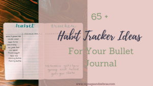 Habit tracker ideas, bullet journal habit tracker, things to track, bullet journal collection