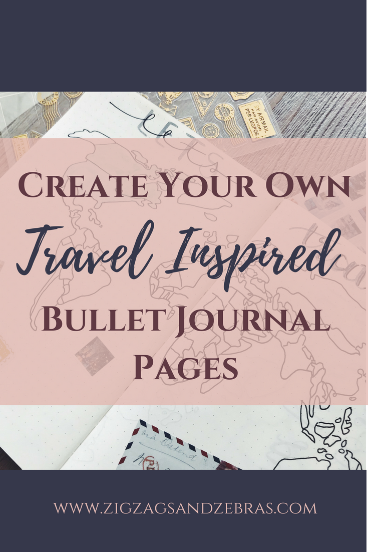 Bullet Journal Travel Page, Travel Collection, Travel Journal