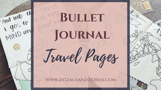 bullet journal travel page, travel collection, travel ideas, travel journal, create your own travel inspired bullet journal pages