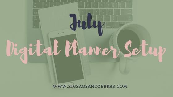 Digital planner setup, monthly setup, plan with me, digital bullet journal