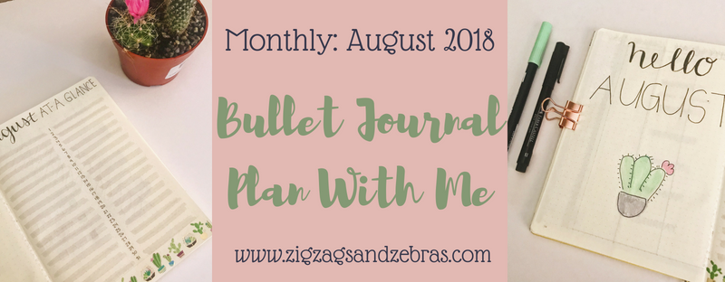 August Bullet Journal Monthly Setup