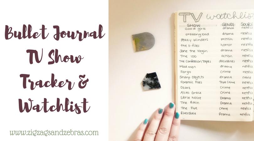 BULLET JOURNAL TV TRACKER | Tv show tracker, bullet journal collections, media tracker, bujo inspiration