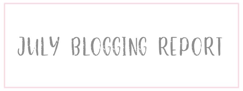 July Blogging Report