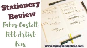 Faber Castell Pitt Artist Pen | Stationery Review
