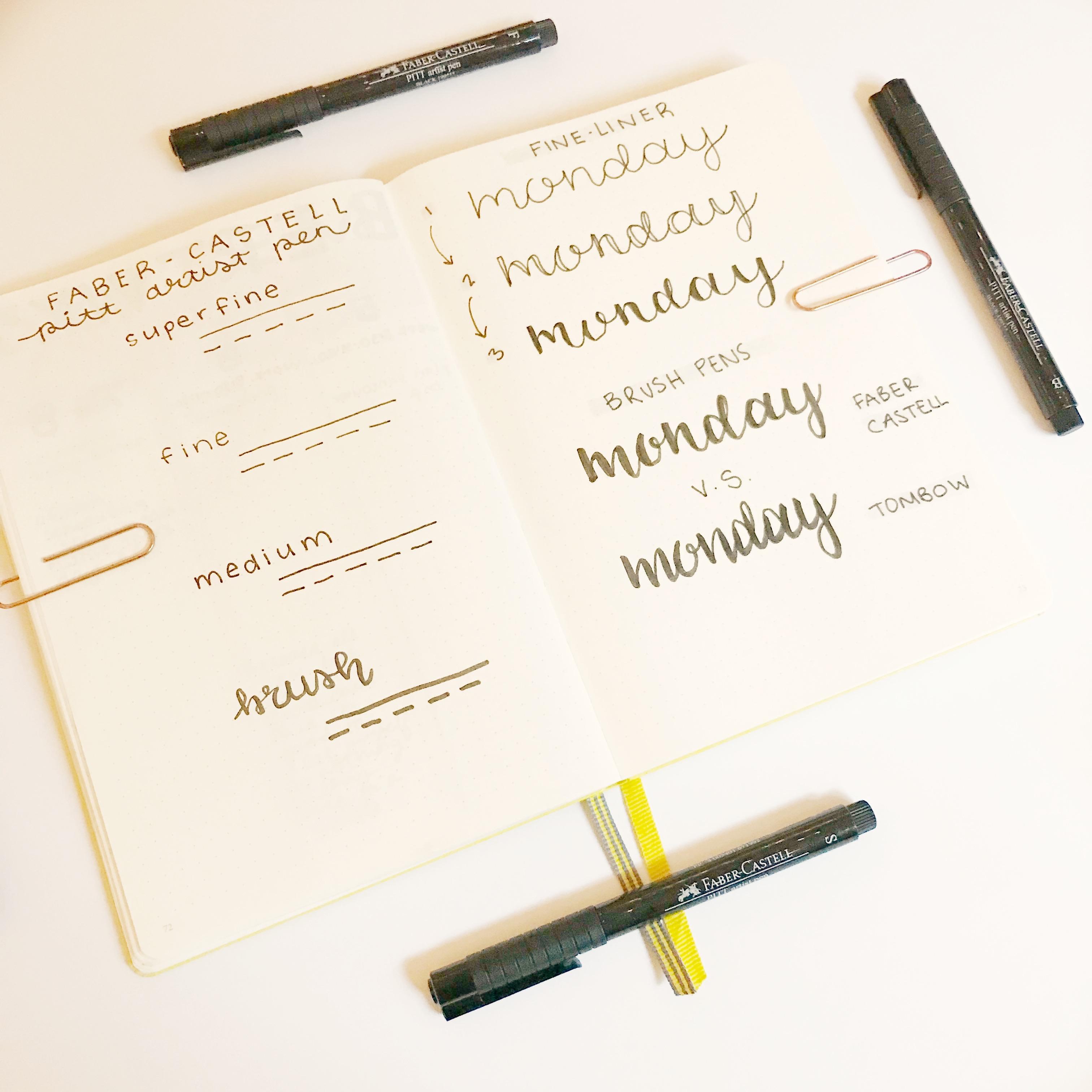 FABER-CASTELL REVIEW | Faber-castell Pitt artist pens review, stationery review, bullet journal supplies, journaling supplies