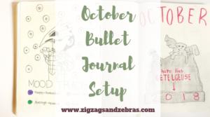 October Bullet Journal Setup