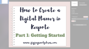 | HOW TO MAKE A DIGITAL PLANNER IN KEYNOTE | Digital Planning, iPad Planning, Goodnotes, Using A Digital Planner, How to Make A Digital Bullet Journal, Digital Bullet Journal