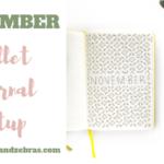 November Bullet Journal Setup