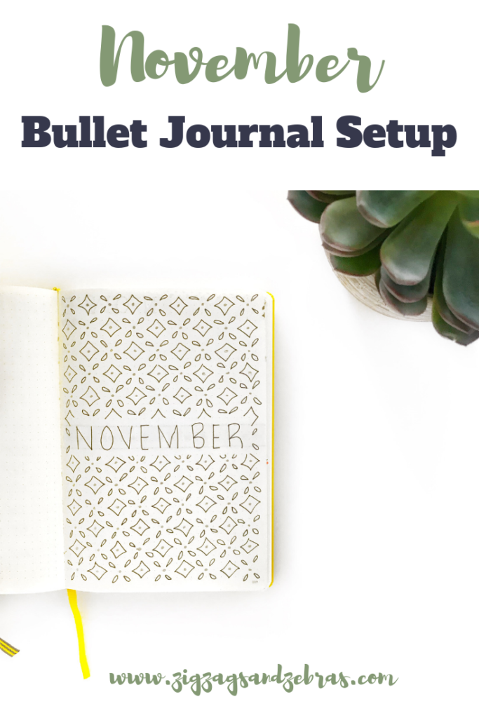 | NOVEMBER BULLET JOURNAL SETUP | Bullet Journal, Monthly Bullet Journal, Bullet Journal Calendar, Bullet Journal Budget, Brain Dump, Plan With Me