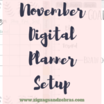 November Digital Planner Setup