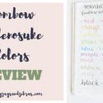 Tombow Fudenosuke Colors Review