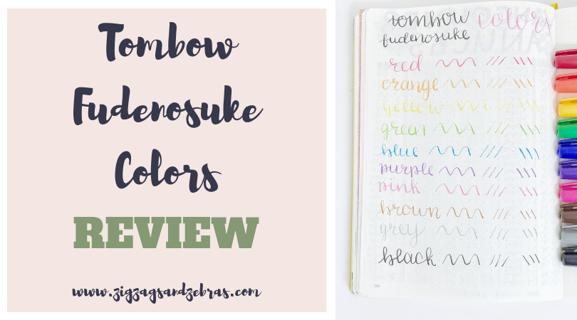 | TOMBOW FUDENOSUKE COLORS REVIEW | Brush Pen Review, Stationery Review, Stationery Supplies, Hand lettering supplies, bullet journal supplies