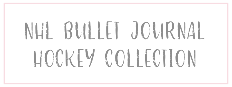 NHL Bullet Journal Hockey Collection