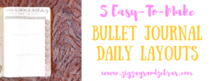 Bullet Journal Daily Layout, Daily Layout Ideas for Bullet Journal, Daily Planning Page, Bullet Journal Inspiration, Easy to make bullet journal layouts