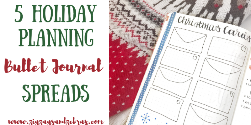 Holiday Planning Bullet Journal Spreads