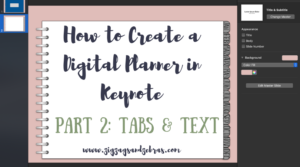 Adding Tabs & Text In Your Digital Planner
