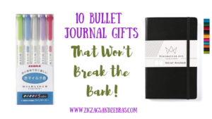 10 Bullet Journal Gifts Under $10! Cheap Bullet Journal Supplies, Journaling Supplies, Planner Supplies, How to Start a Bullet Journal For Cheap, Bullet Journal Gift Ideas, Planner Gift Ideas #bulletjournal #planner #stationery