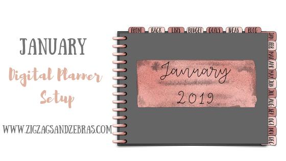 January Digital Planner Setup, Digital Planner, Digital Bullet Journal