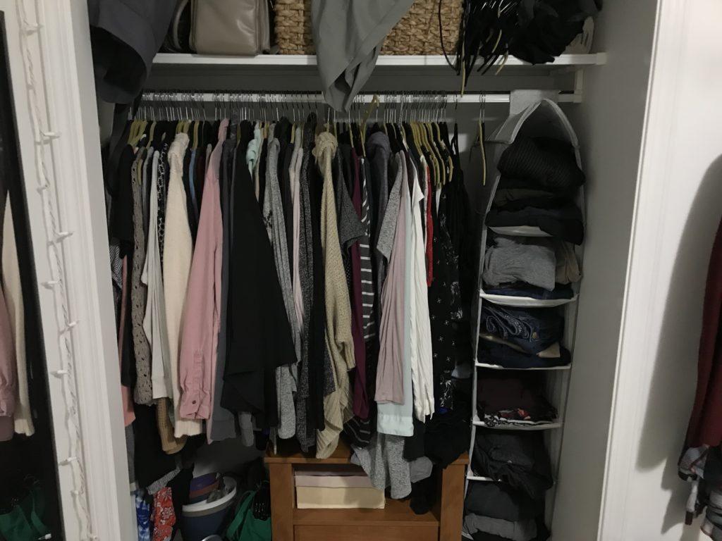 KonMari Clothes. Decluttering Closet, KonMari Method. #decluttering #closetdecluttering