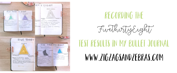 Five Thirty Eight Test Results in my Bullet Journal, Recording a personality test in bullet journal. #bulletjournal #planner #bulletjournalcollection #fivethirtyeighttest
