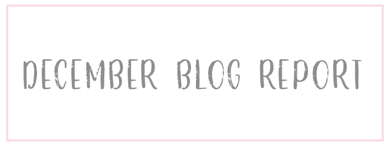 December Blog Report
