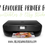 My favourite printer for planner printables and my Etsy shop. HP Envy 4520 Review #printables #printer