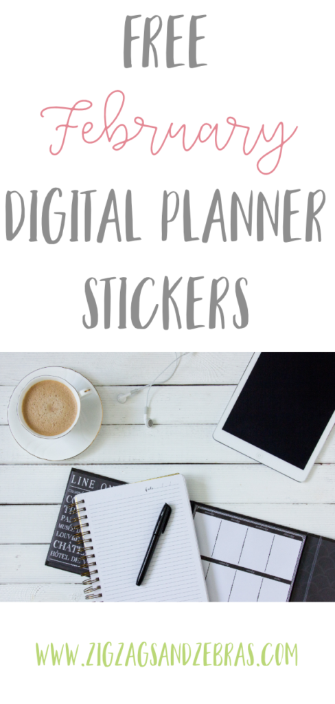 FREE FEBRUARY DIGITAL PLANNER STICKERS! Download some free digital stickers for your iPad or Android planner. For use in Goodnotes or other app! Transparent background makes it easy to put the stickers anywhere in your planner. #digitalplanner #goodnotes #digitalplanningstickers