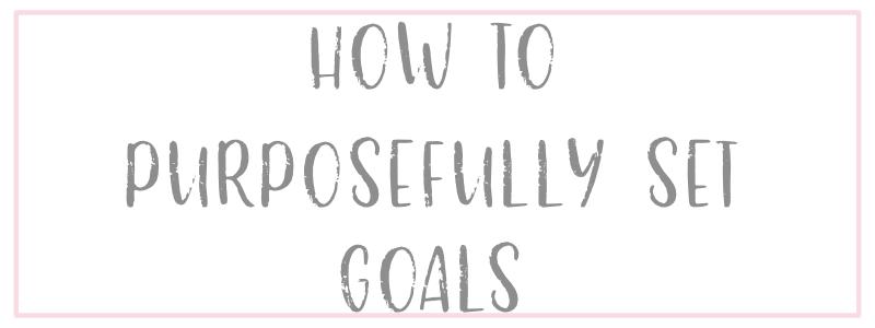 Setting 2019 Goals