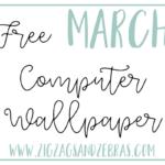 FREE MARCH 2019 COMPUTER WALLPAPER. Free Computer Desktop Background, MacBook Background. #digitaldownload #freewallpaper