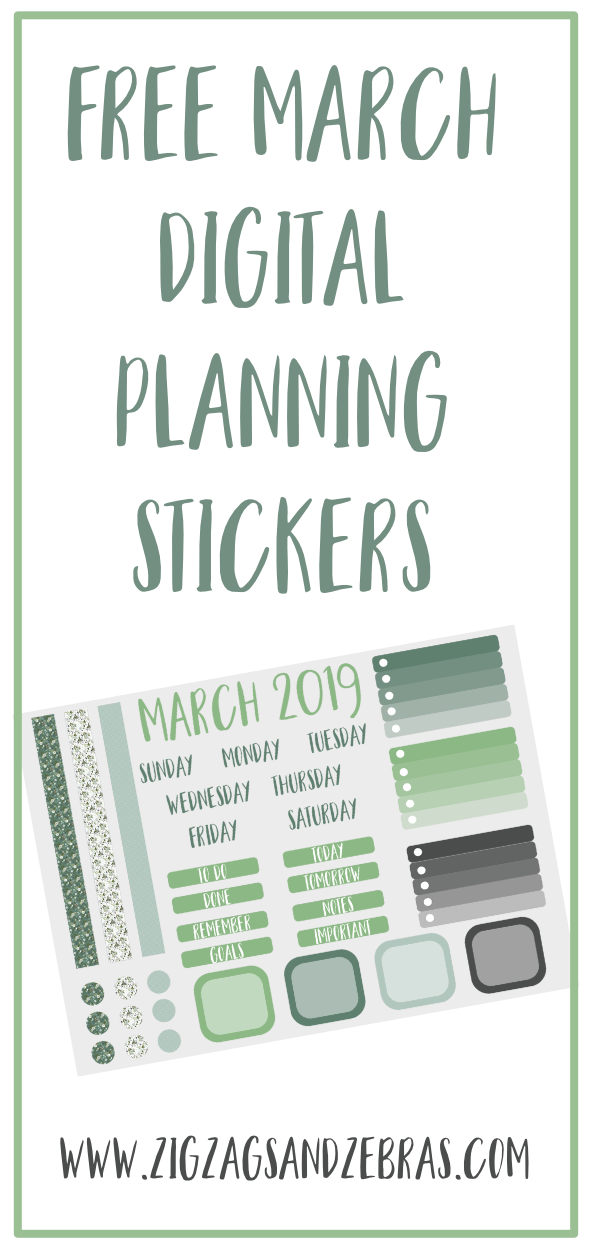 FREE MARCH DIGITAL PLANNER STICKERS. Digital planning stickers, how to make a digital planner. #digitalplanner #digitalplanning
