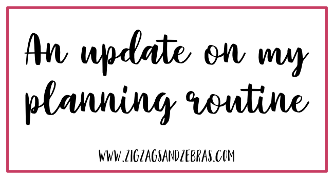 MY PLANNING UPDATE. Finding Planner Peace, How to find the perfect planning system, creating a planning routine. #plannerpeace #plannerlove #paperplanner