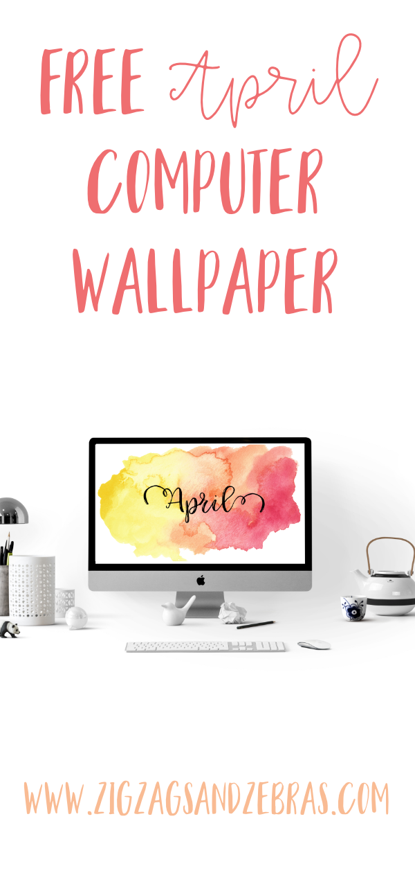 Free April Computer Wallpaper Download. Spring Themed Computer Wallpaper. #freebie #freedownload #computerwallpaper