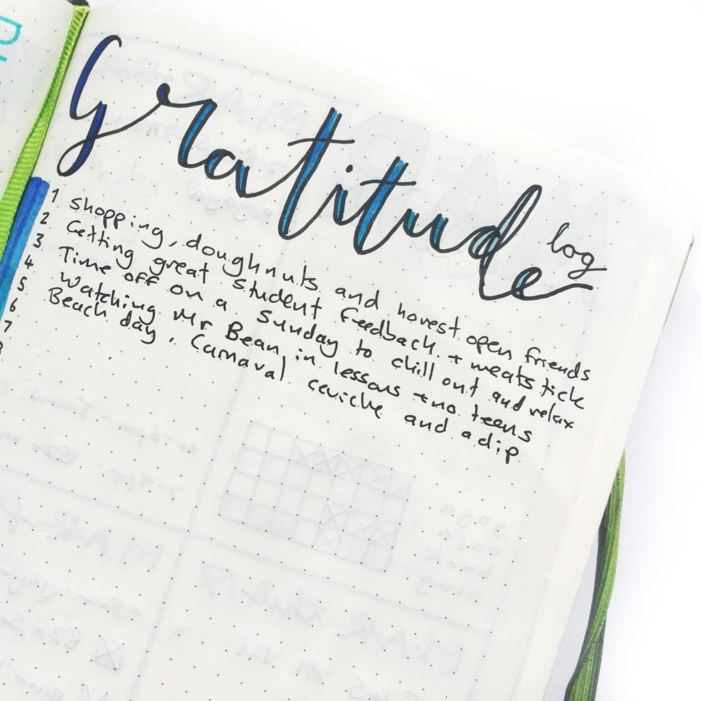 How My Gratitude Log Changed My Life. Why Having a Gratitude Log In Your Bullet Journal Is Important! How to Start a Gratitude Log. #gratitudelog #bulletjournalcollections