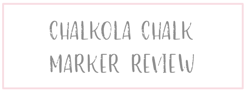 Chalkola Marker Review