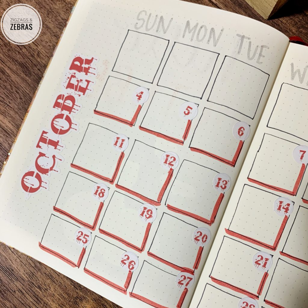 October Bullet Journal Setup, Fall Bullet Journal, Monthly Cover Page, Bullet Journal Stickers, Planner Community